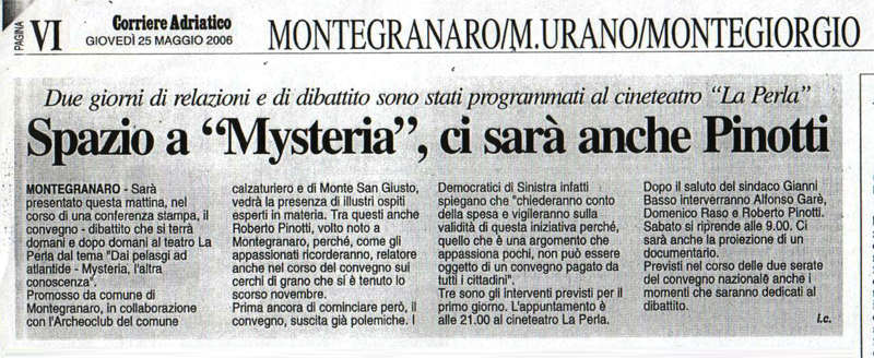 Corriere Adriatico - 25 maggio 2006