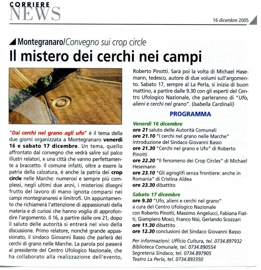 Corriere News - 16 dicembre 2005