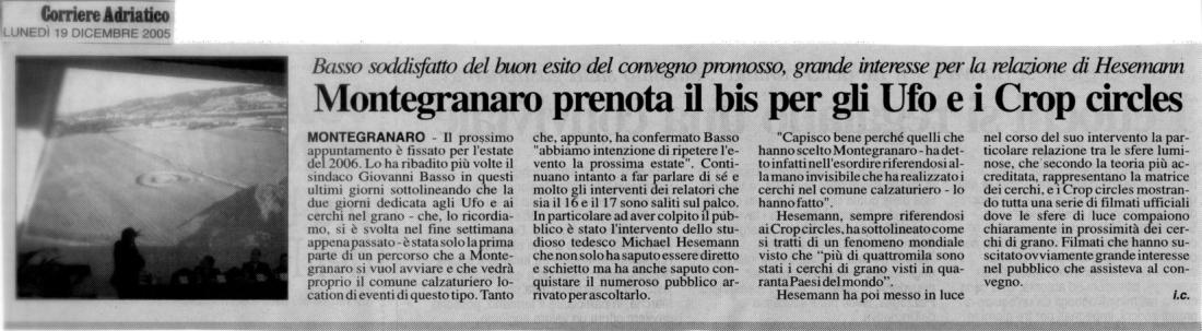 Corriere Adriatico - 19 dicembre 2005