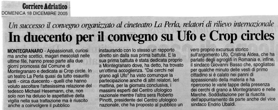 Corriere Adriatico - 18 dicembre 2005