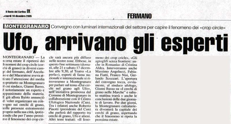 Il Resto del Carlino - 16 dicembre 2005