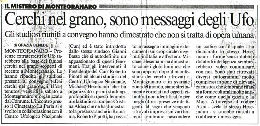 Il Messaggero ed.Marche - 18 dicembre 2005