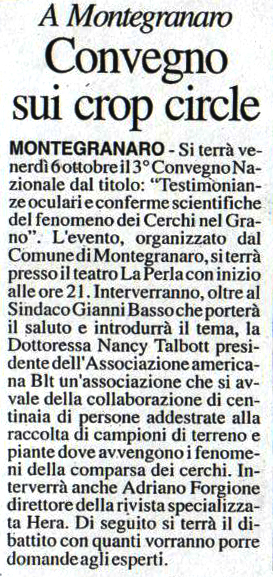 Corriere Adriatico - 3 ottobre 2006